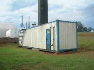 40 ft Containerketelhuis